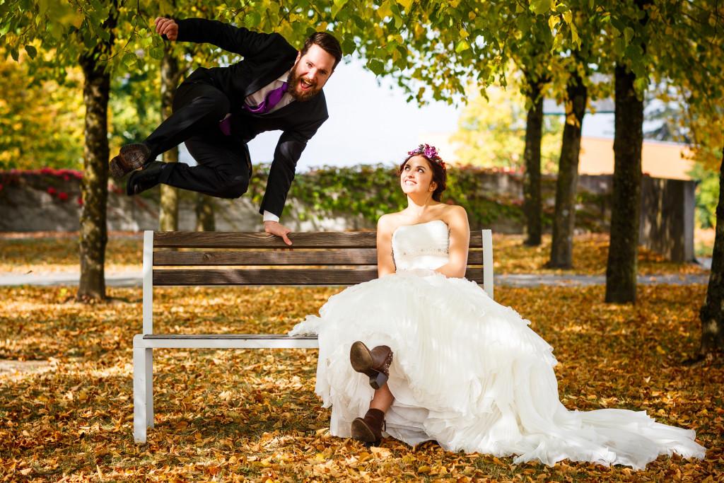 Hochzeitsfotografien von Dominique Hammer, Fotos von Lela und Benni in Geinberg