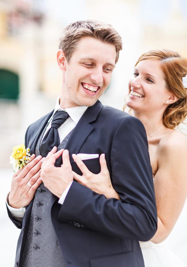 Hochzeitsfotografien von Dominique Hammer, Fotos von Eva und Bernhard in Laxenburg
