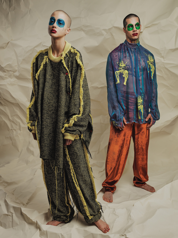 Sarah Bzoch und Benjamin. Fashion: Alessandro Santi